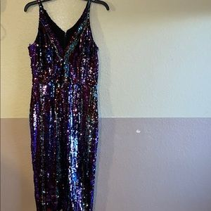 Dress the Population sequins merlot sheath dress